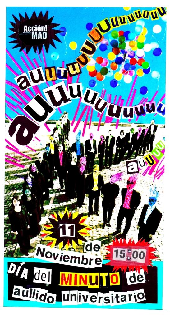 dia del minuto de Aullido Universitario Lucas Agudelo Acción Madrid
